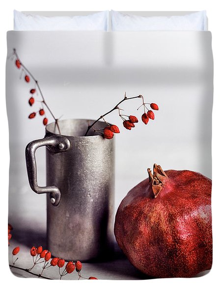 Still Life With Pomegranate Duvet Cover