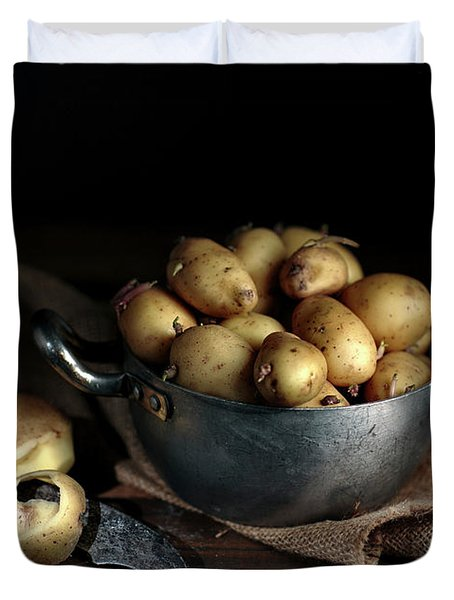 Still Life With Potatoes Duvet Cover