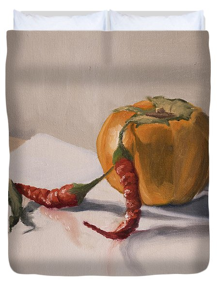 Still Life With Produce Duvet Cover