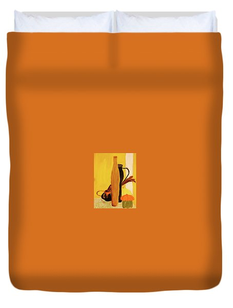 Still Life With Pumpkins  Duvet Cover by Manuela Constantin