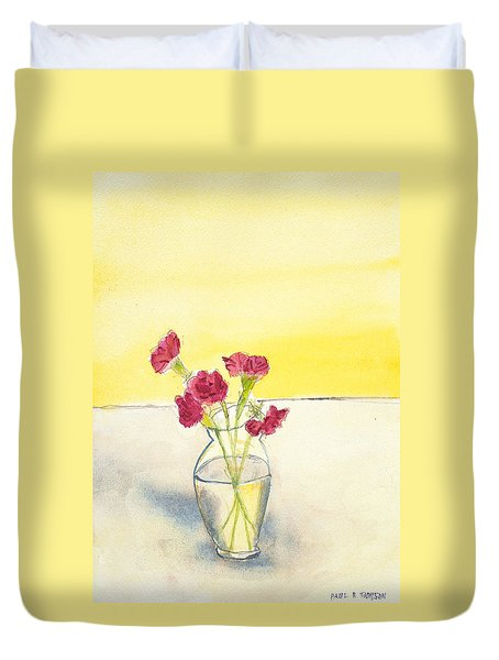 Still Life With Roses Duvet Cover