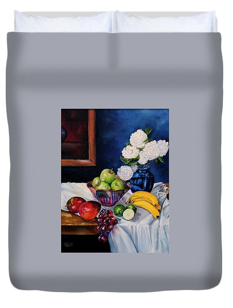 Still Life With Snowballs Duvet Cover