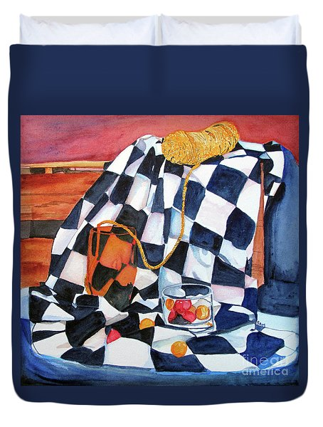 Still Life With Squares Duvet Cover