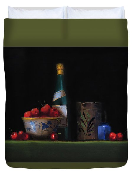 Still Life With The Alsace Jug Duvet Cover by Barry Williamson