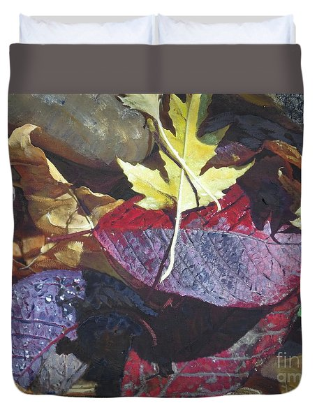 Duvet Cover featuring the photograph Still Life With The Fallen by Brian Boyle