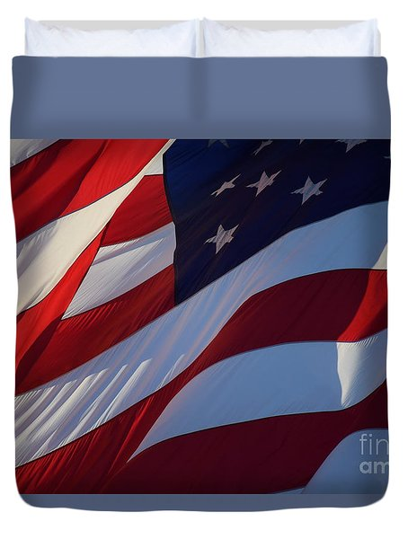 Still Our Flag. Duvet Cover