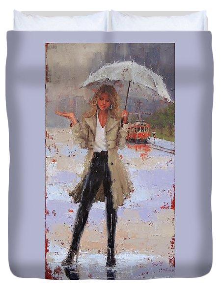 Still Raining Duvet Cover