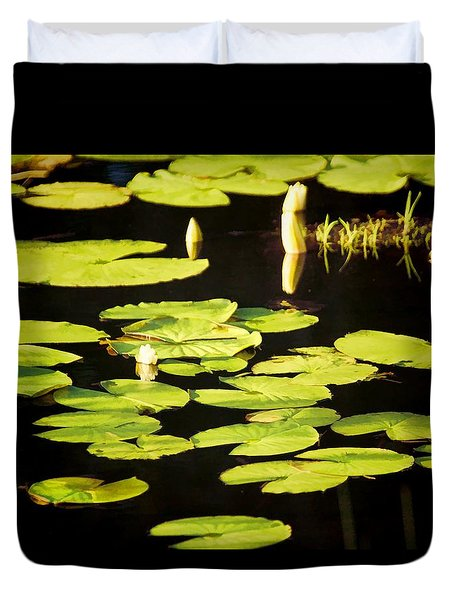 Duvet Cover featuring the photograph Still Reflections by Jan Amiss Photography