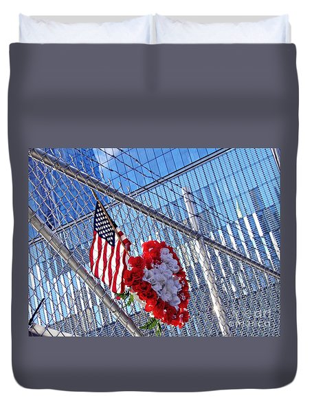 Duvet Cover featuring the photograph Still Remembered  by Sarah Loft