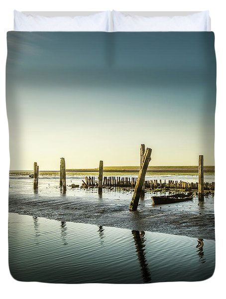 Duvet Cover featuring the photograph Still Standing by Hannes Cmarits