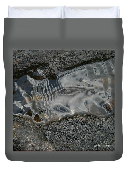 Still Stream Skeleton Screams Duvet Cover