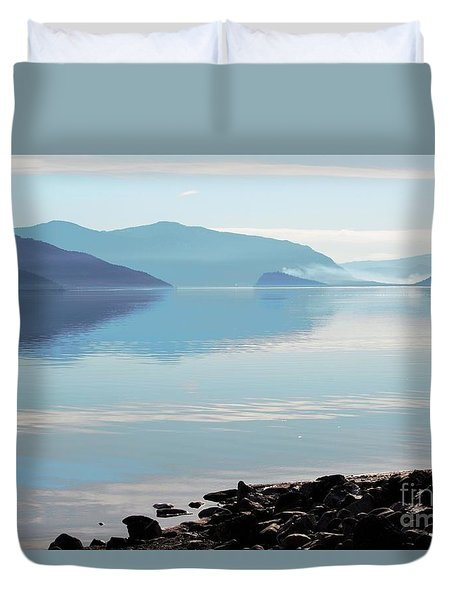 Duvet Cover featuring the photograph Still by Victor K