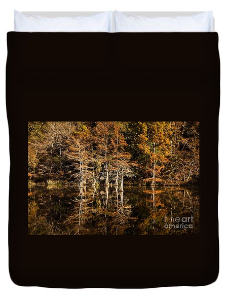 Still Waters On Beaver's Bend Duvet Cover