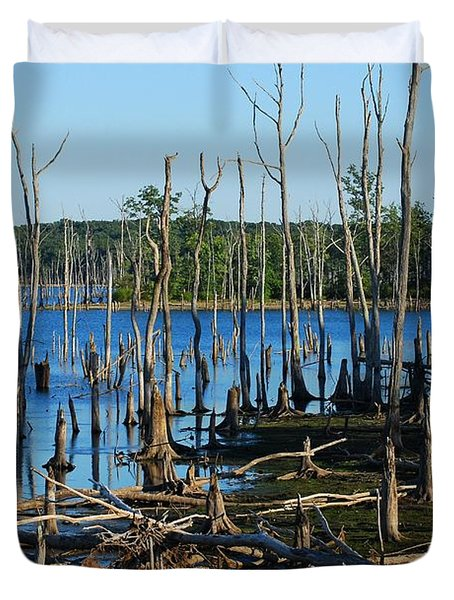 Still Wood - Manasquan Reservoir Duvet Cover