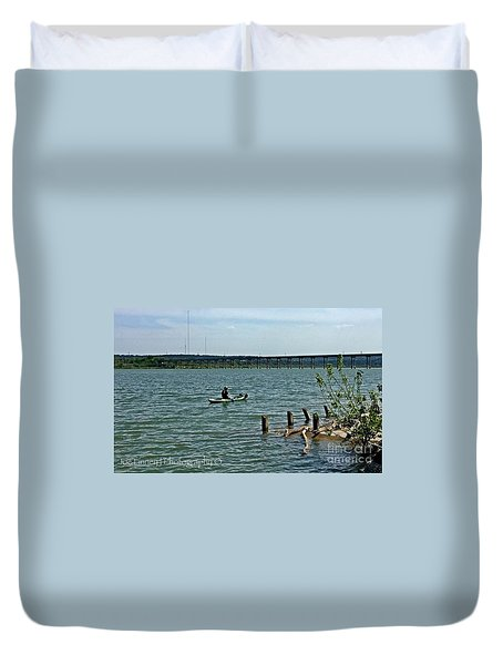Stillhouse Lake Canoe - No.2016 Duvet Cover