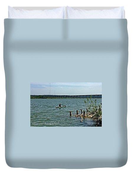 Duvet Cover featuring the photograph Stillhouse Lake Canoe - No.2016 by Joe Finney