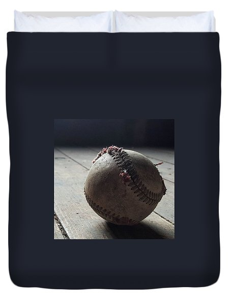 Baseball Still Life Duvet Cover