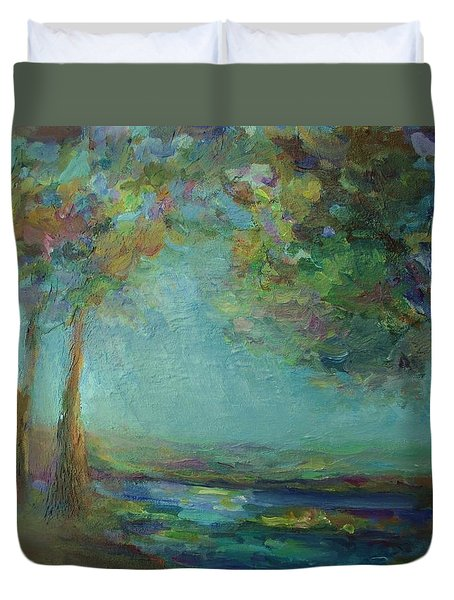 Stillness Duvet Cover by Mary Wolf