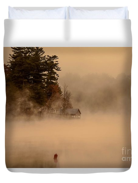 Stillness Of Autumn Duvet Cover by Sherman Perry