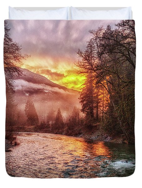 Stilly Sunset Duvet Cover