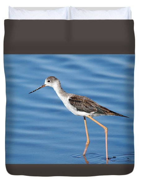 Duvet Cover featuring the photograph Stilt by Richard Patmore