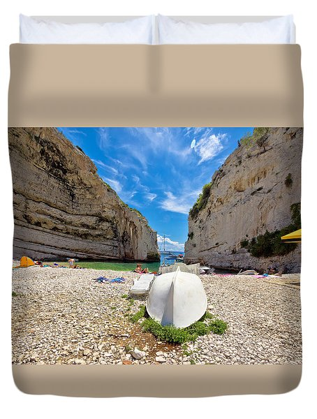 Stinva Bay Beach Summer View Duvet Cover by Brch Photography