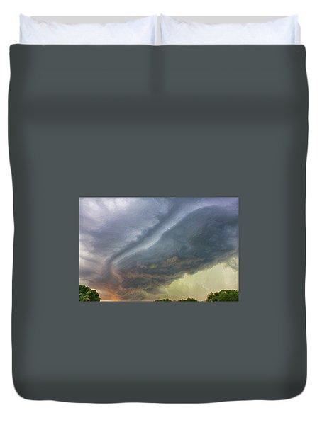 Stirred Up Sunset Duvet Cover