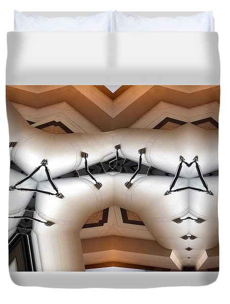 Stitched 1 Duvet Cover by Ron Bissett