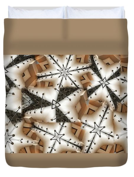 Stitched 3 Duvet Cover by Ron Bissett