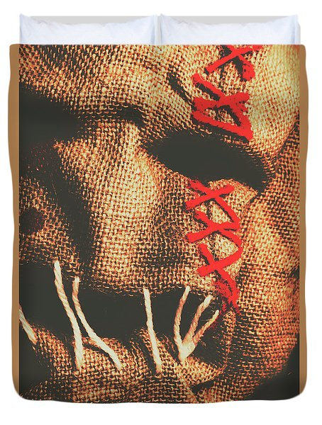 Stitched Up Madness Duvet Cover