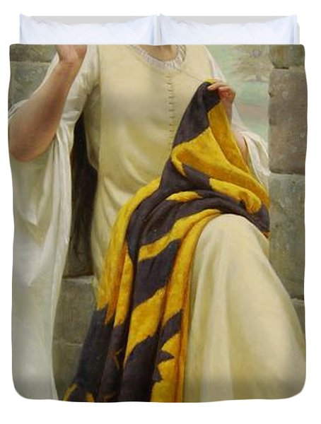 Stitching The Standard Duvet Cover by Edmund Blair Leighton