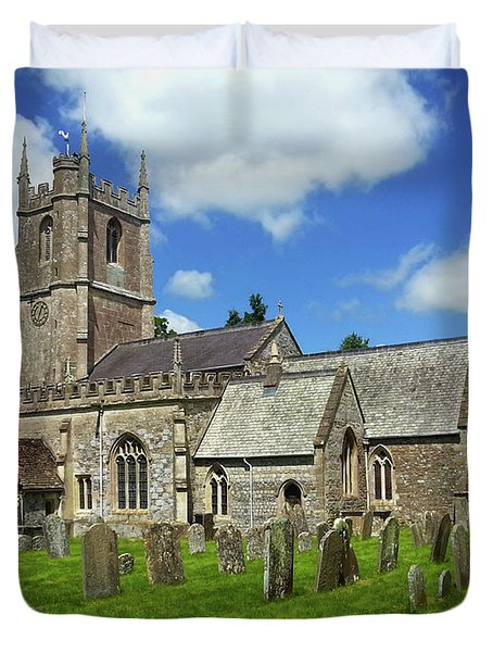St.james Church In Avebury Duvet Cover