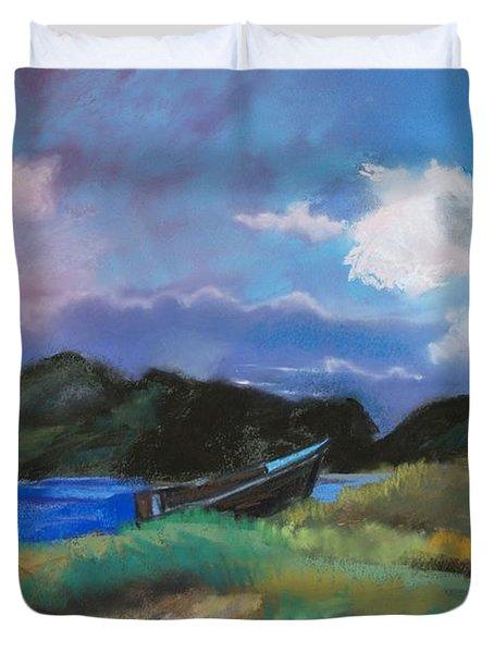 St. Kitts Row Boat Duvet Cover