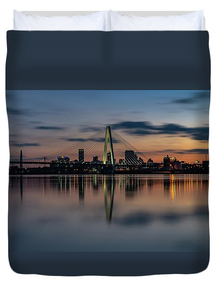 Stl Cityscape Duvet Cover by Jae Mishra