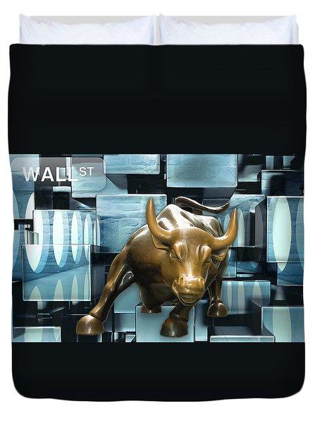 Stock Trader Duvet Cover