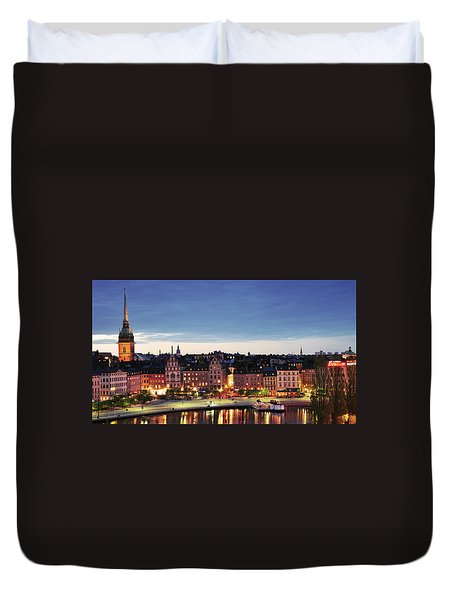 Stockholm By Night Duvet Cover