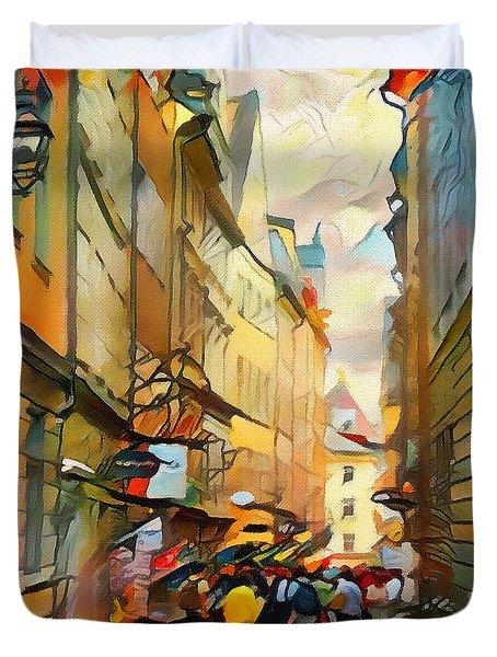 Stockholm Galmastan Town 9 Duvet Cover
