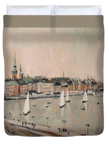 Stockholm Regatta Duvet Cover by Nop Briex