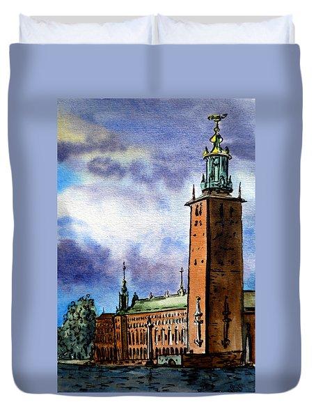 Stockholm Sweden Duvet Cover