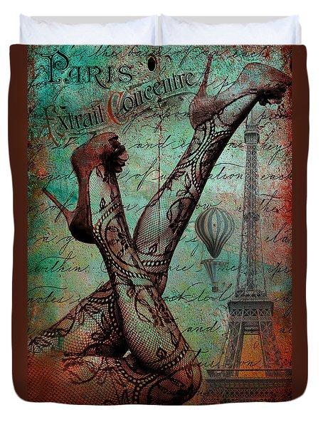 Stockings In Paris Duvet Cover by Greg Sharpe