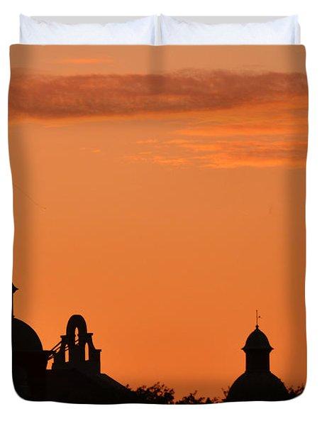 Stockyard Sunset Duvet Cover
