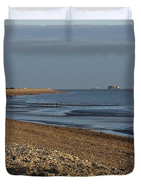 Stokes Bay England Duvet Cover