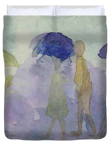 Stomping In The Rain Duvet Cover