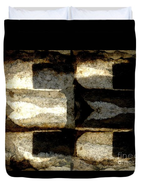 Stone Abstract Duvet Cover by Barbara Moignard