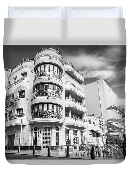 Duvet Cover featuring the photograph Stone And Steel. by Gary Gillette