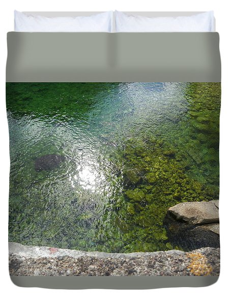 Stone And Water Duvet Cover