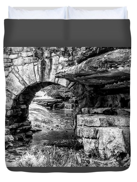 Stone Arch Duvet Cover by Wade Courtney