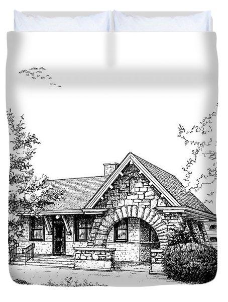 Stone Ave. Train Station Duvet Cover