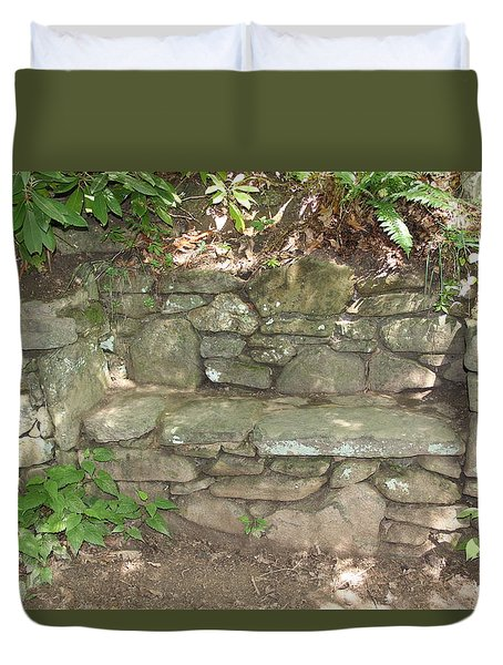 Stone Bench Duvet Cover