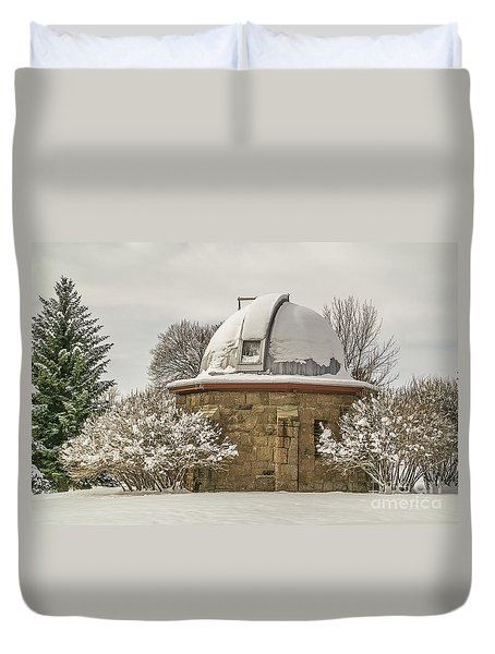 Stone Block Observatory Duvet Cover
